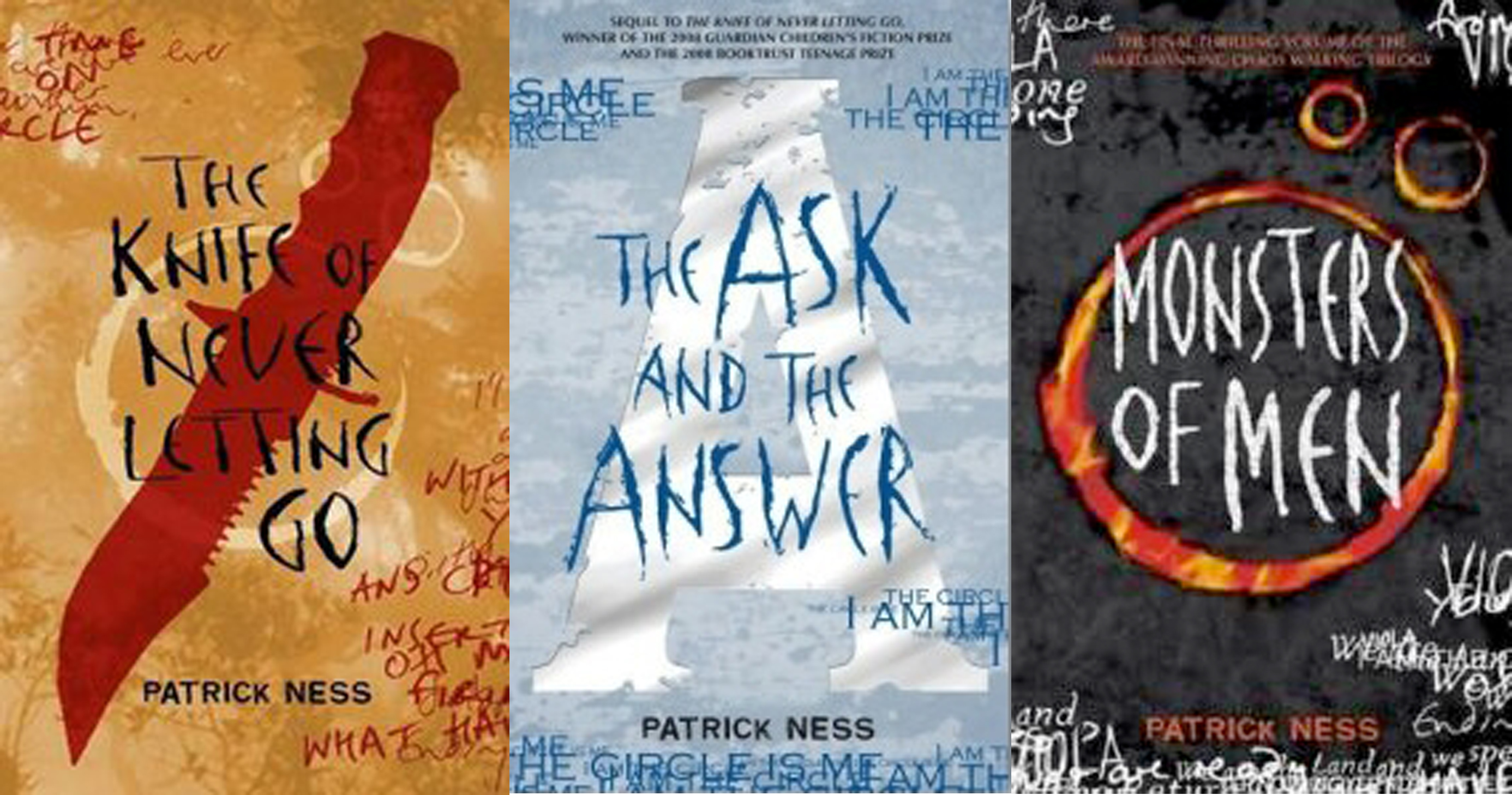 Chaos Walking Book Covers