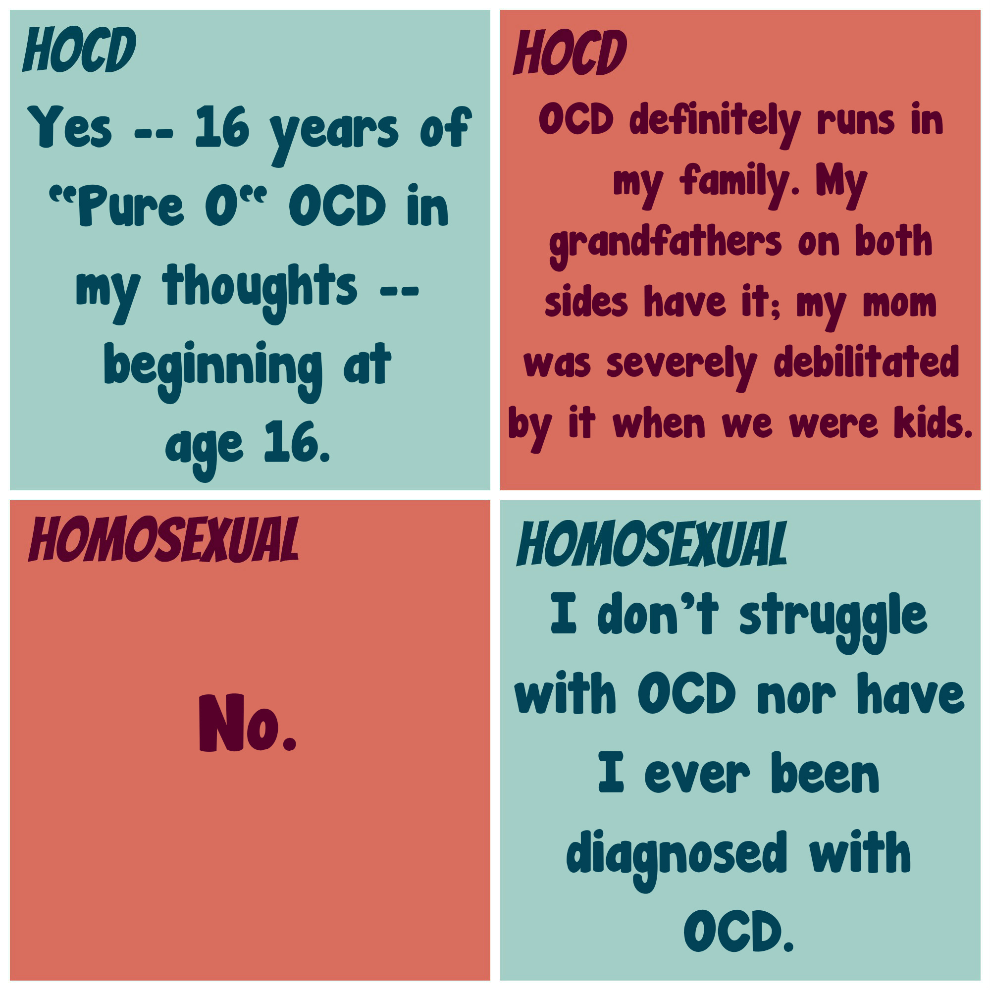 Latent homosexuality or hocd