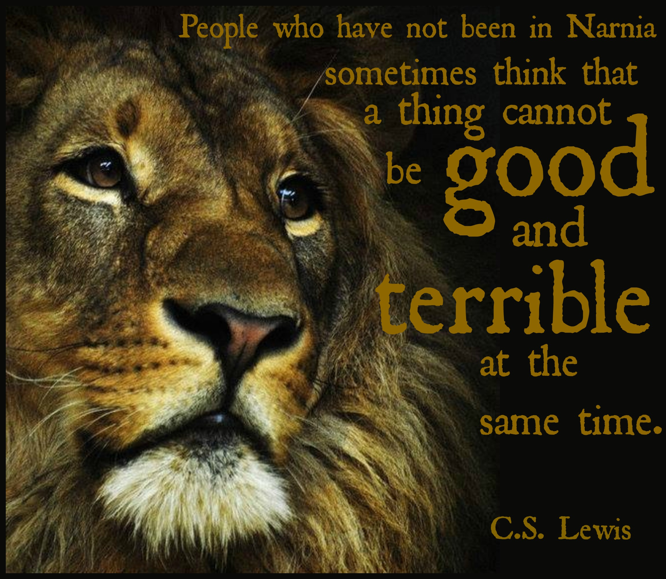 Chronicles of Narnia | JACKIE LEA SOMMERS for Narnia Aslan Quotes  153tgx