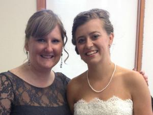 me and Des at her wedding!