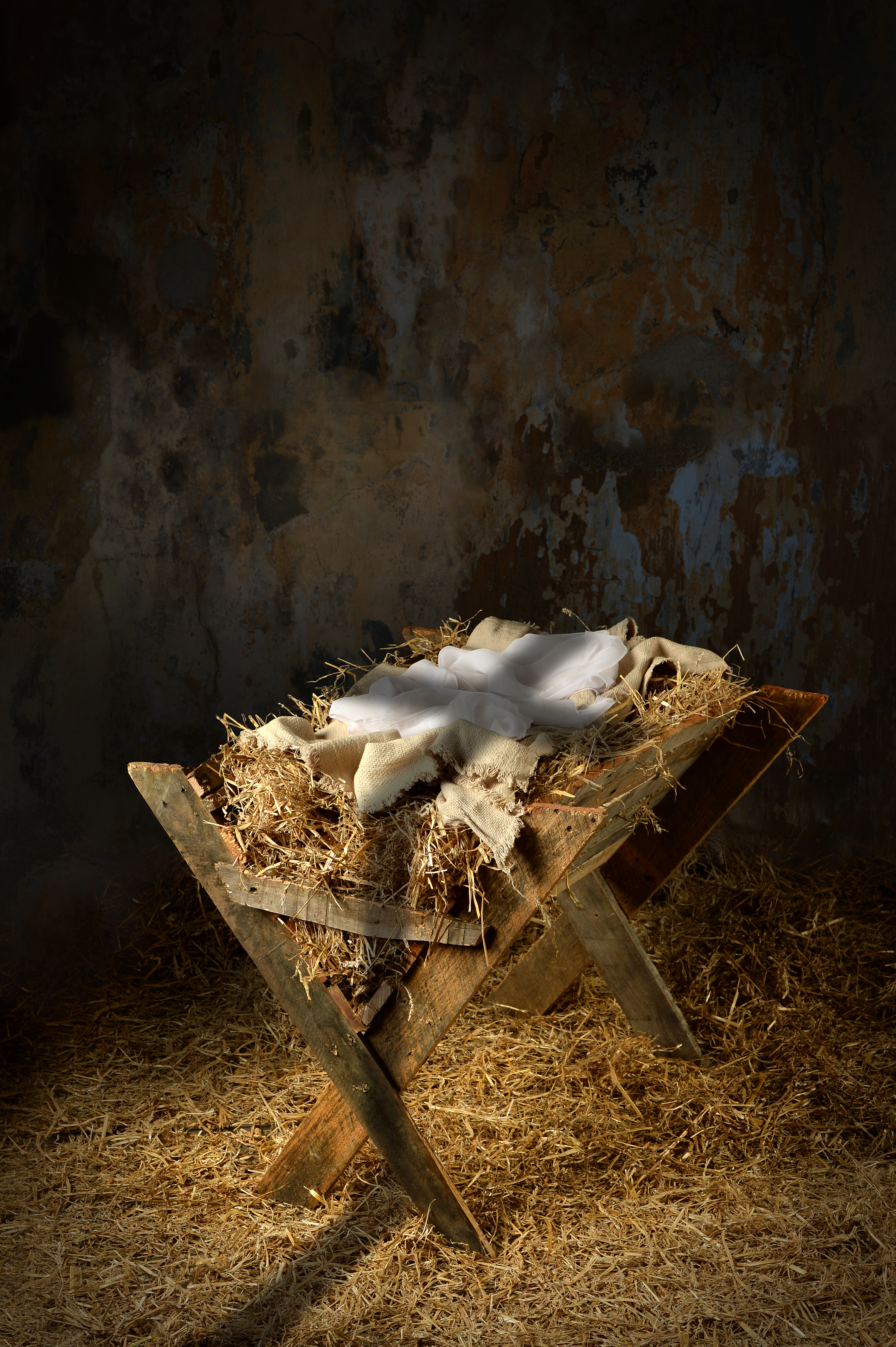 Empty Manger With Cross Shadow Jackie Lea Sommers